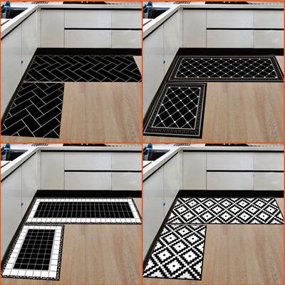 2PCS Home Soft Kitchen Floor Mat Non Slip Runner Anti Fatigue Rug Door Decor US