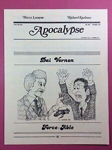 Harry-Lorayne-Richard-Kaufman-APOCALYPSE-Magic-Newsletter-Vol-1-No-11-1978