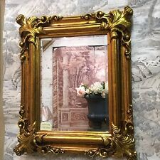 Antique Style Gold Acanthus Cornered Medium Size Rectangle Bevelled Wall Mirror