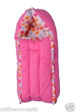 J & J Baby Bedding set/ Baby Carrier/ Sleeping Bag / New Born - Floral Pink