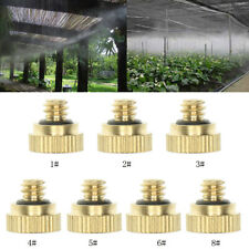 Outdoor Cooling Water Mist Fog Spray System Kit Brass Misting Set Nozzles O6F1