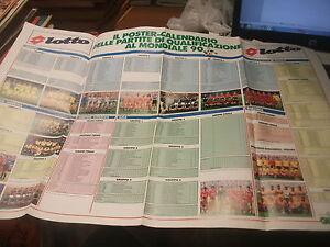 Calendario Qualificazioni Mondiali Italia.Dettagli Su Poster Guerin Sportivo Calendario Qualificazioni Mondiale Italia 90