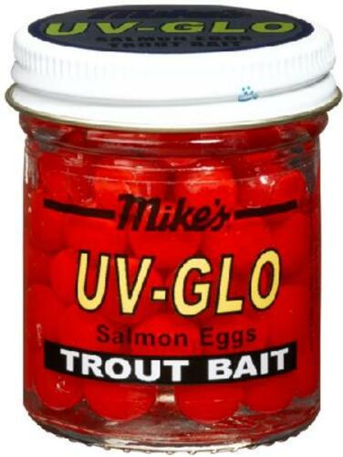 Atlas Mike/'s UV Glo Salmon Eggs Trout Bait Cerise Red Orange Choice of Colors