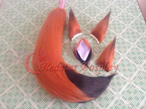 Zootopia Fox Nick Cosplay Costume Accessories Plush Paw Ear Tail Set Nick Ears