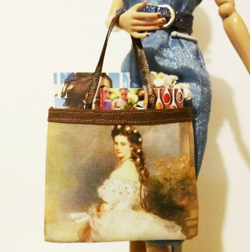 Barbie Fun little Fine Arts print tote of Empress Sissi for FR