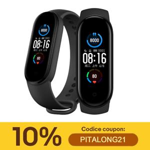 Originale Xiaomi Mi Band 5 Smart Bracelet BT 5.0 Fitness Tracker Nero Globale IT
