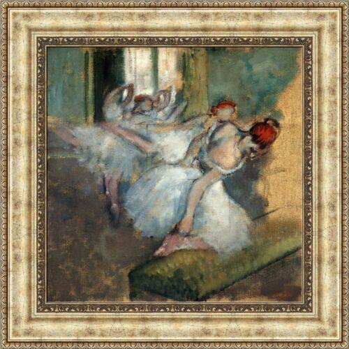 """Edgar Degas Ballet Dancers Framed Canvas Giclee Print 21/""""x21/"""" V02-05"""