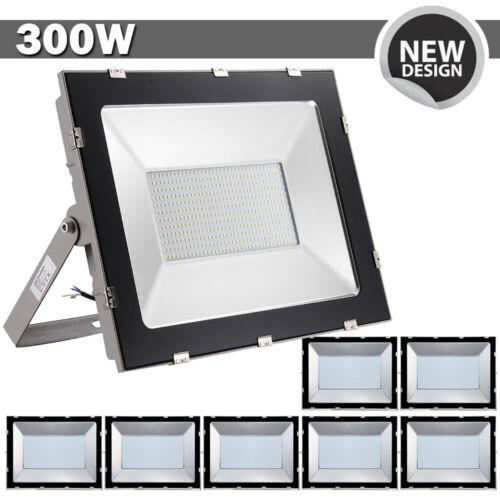 8X300W LED Fluter Flutlicht Kaltweiß Gartenlampe Außen Strahler Ultra Dünn IP65