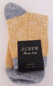 NEW Yellow J. CREW Bootie SOCKS Quarter Length Socks SOFT Cotton-Blend