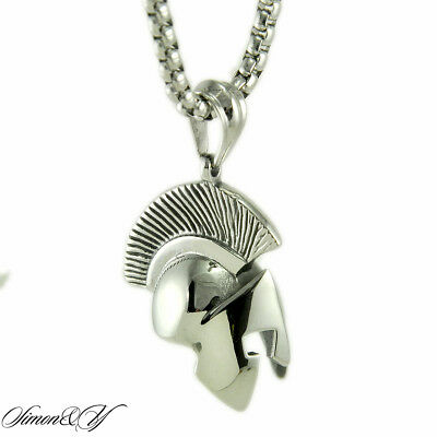 Roman Warrior Style Metal Necklace With Black Cord Mens Boys Pewter Pendant New