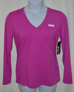 f3ff6d44 Details about FILA SPORT® Rocket Pink Workout Women's Tee - Size L