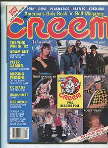 Creem March 1983 Who Eddie Van Halen Adam Ant David Bowie Calendar Poster MBX6