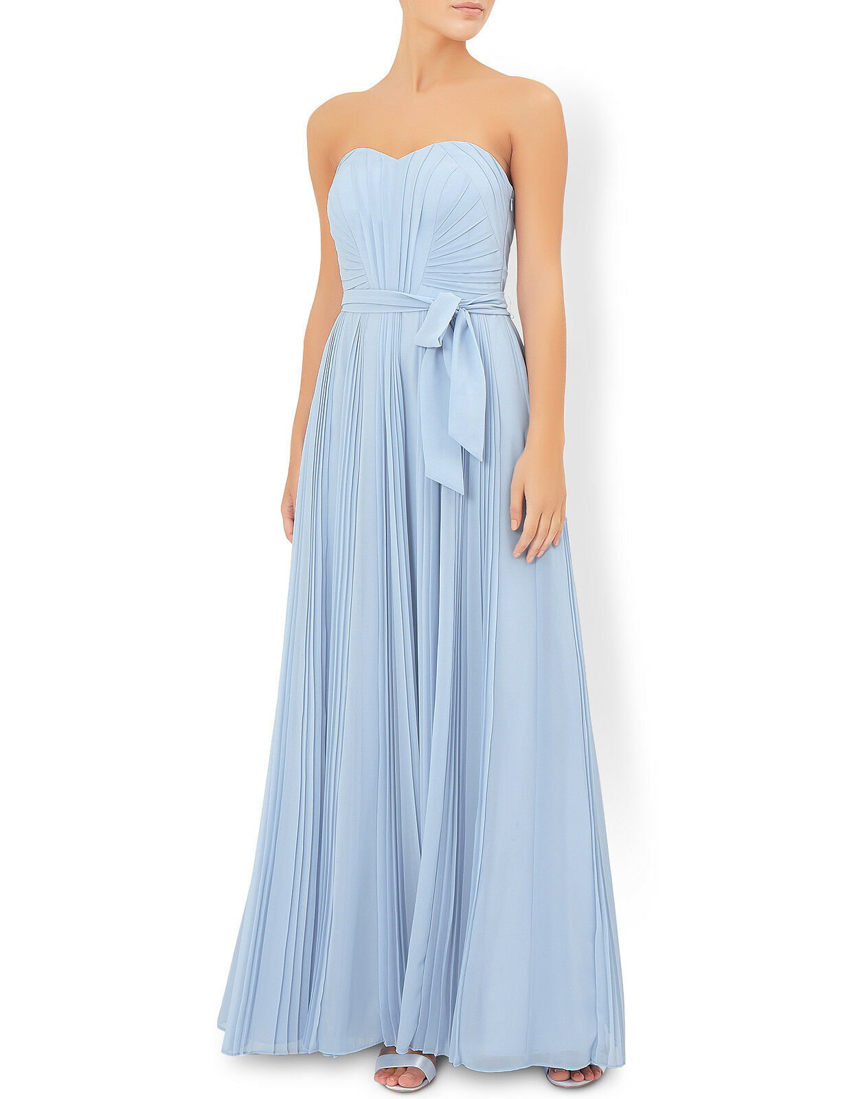 rotUCED   BNWT  MONSOON  Blau MAXI DRESS Größe  12  RRP