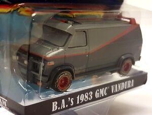 Greenlight 1/64 Scale - A-Team B.A's 1983 GMC Vandura Dirty Diecast Model Van