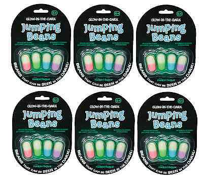10 x Packs Of GID Glow In The Dark Luminous Mexican Jumping Beans Toys 08078