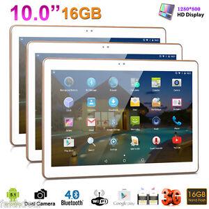 "10,1"" Phablette 3G+Wifi 16Go Tablette Tactile PC Android 5.1 Quad Core 2xSIM/CAM"