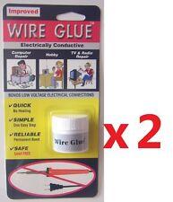 WIRE GLUE 2-PACK LOT - Electrically Conductive Glue