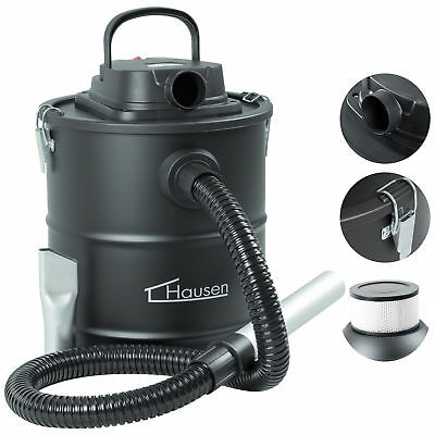 Hausen 1200W Cylinder 20L Fireplace Fire Ash Vacuum Cleaner Hoover Log Burner