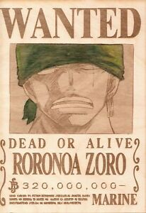 One Piece - Zoro Wooden Wanted Poster (Color)