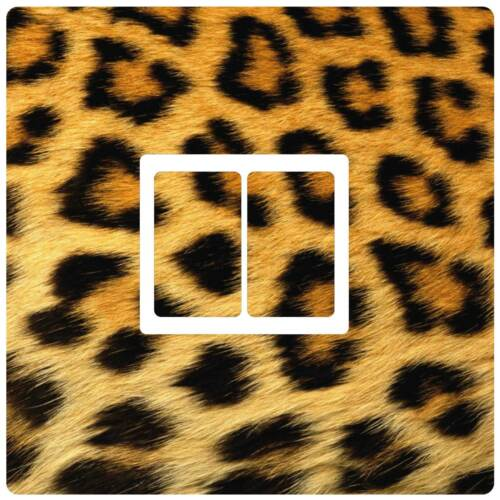 Leopard Animal Print Single Double Triple Dimmer Light Switch Cover Sticker