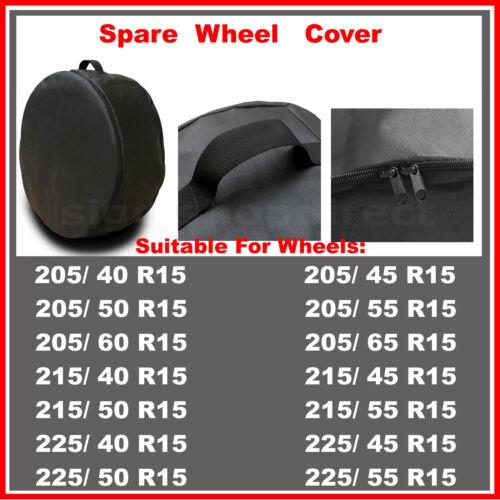 R15 Spare Wheel Cover Tyre Tire Storage Bag Car Van Caravan Motorhome Truck BV53