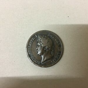 FRENCH-COLONIES-10-CENTIMES-1841-KM-13-F-VF