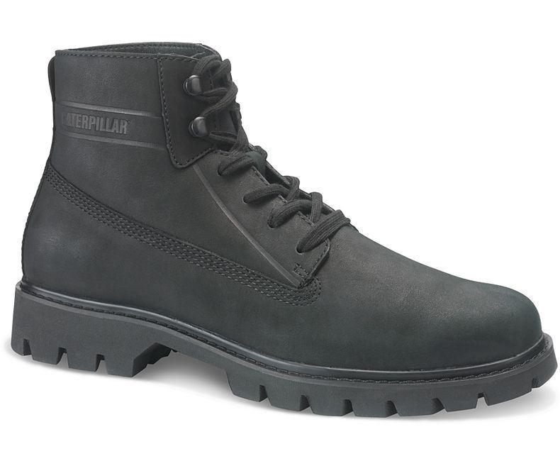 Cat Hombre Grano Entero Cuero Moderno botas (Base) Negro
