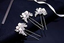 Crystal Hair Pin, Wedding Hair Pin, Leaf Hair Pin, Bridal Hairpin, Rhinestone Ha