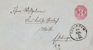Antiker-Briefumschlag-von-Tuebingen-nach-Esslingen-aus-dem-Jahr-1874