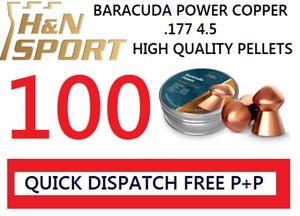 quantità Campione Confezione da 100 H/&N Sport BARACUDA Power .177 Pellet Air Fucile
