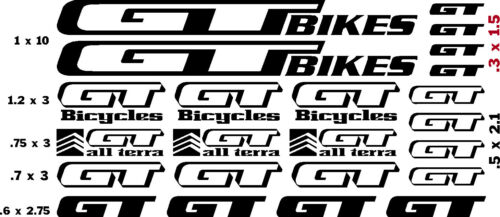 $12.99  FREE SHIPPING   CHOOSE COLOR G T BIKES  FACTORY   VINYL CUT DECALS 23
