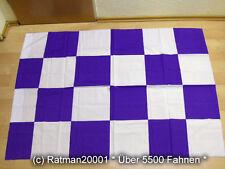 Fahnen Flagge Karo Lila - 110 x 130 cm