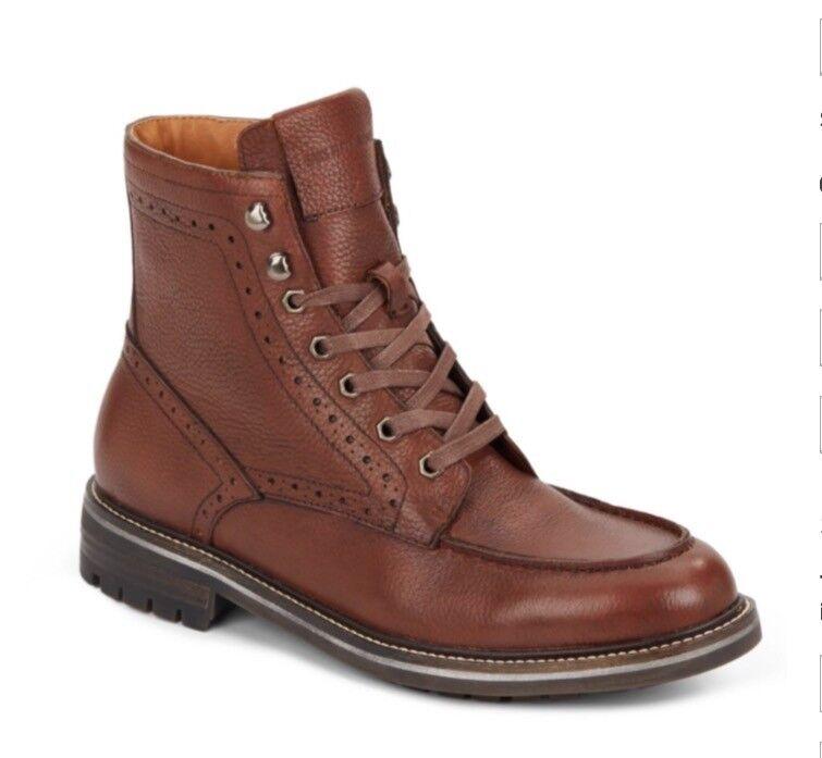 Saks Fifth Avenue para hombre marrón  Rick 'Cuero botas  11 medio