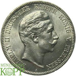 F624 J104 Preussen 5 Mark 1907 A Wilhelm Ii 1888 1918 Ebay