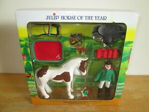 Julip-Horse-of-the-Year-No-1404-Polly-and-Pandora-Skewbald-Collectable-Model