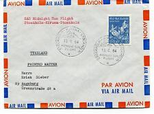 1964 SaS Midnight Sun Flight Stockholm Kiruna Tyskland Polar Antarctic Cover