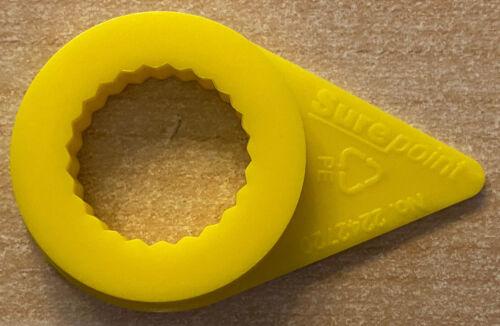 Surepoint 19mm Wheel Nut Indicators Pointers Yellow x 5