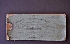 Mauro Esercizi Pratici di Scrittura Calligrafia Alfabeto Bella Grafia 1870