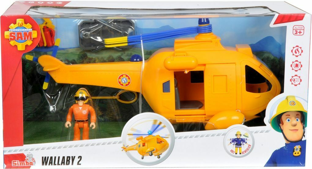 Fireman Sam. Sam Hubschrauber Wallaby II mit Figur    München