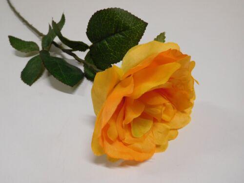 Rose Bauernrose Seidenblume Kunstblume orange 66 cm 11859-5 F8