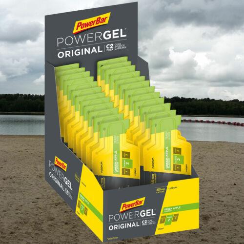 Koffein Power Bar GEL 24 Tütchen a 41g Green AppleApfel 38,61€//1kg