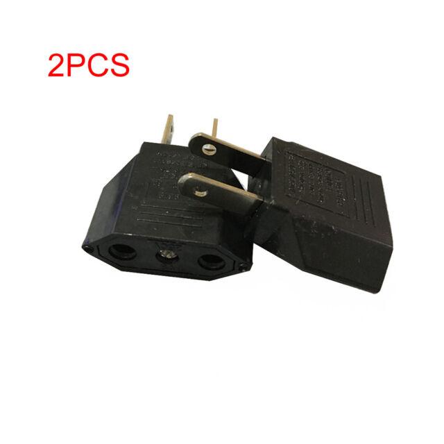 2PCS EU to US Conversion Plug Adapter American European Travel Adapter Well