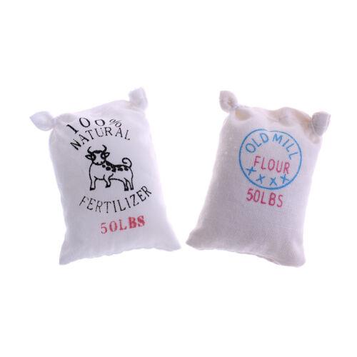 1:12 Dollhouse miniature kitchen food 6 bags of sugar flour salt potato JZP/_ES