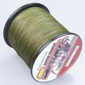 Super-Dyneema-300-1000M-30-50LB-Fishing-Braid-Carp-Line-Army-Green-Spod-Marker