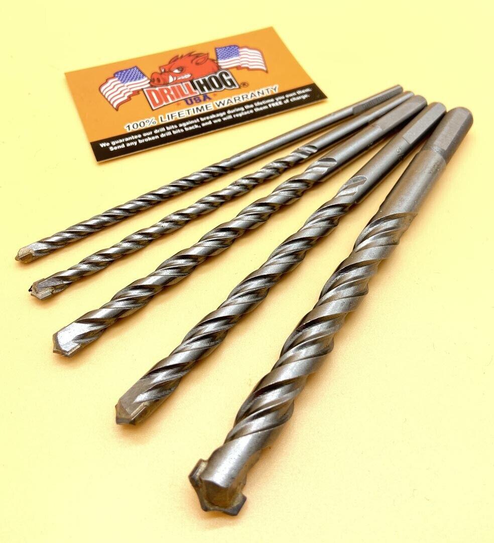 """6 Piece Master Mechanics 13/"""" Rotary Masonry Drill Bits 3//4,5//8,1//2,3//8,5//16,1//4"""