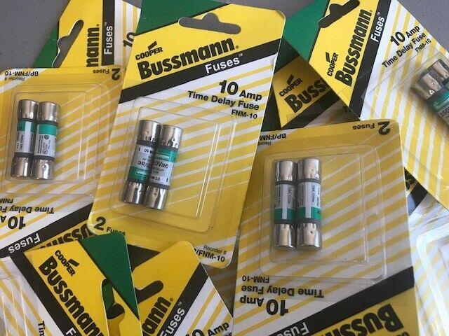 Cooper Bussmann BP//FNM-10 250-volt  Type FNM Time Delay Cartridge Midget Fuse 2 Pack