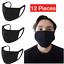 thumbnail 1 - 12-Pack Black Face Mask Reusable Washable Cover Masks Fashion Cloth Men Women
