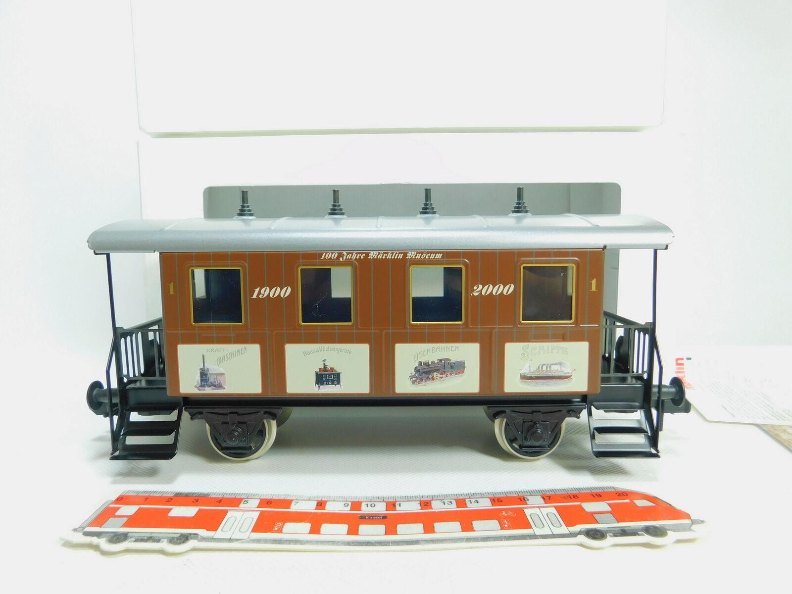 BO272-2   Märklin Escala 1  Ac 54708 Metall-Personenwagen 100 Años 1900 2000