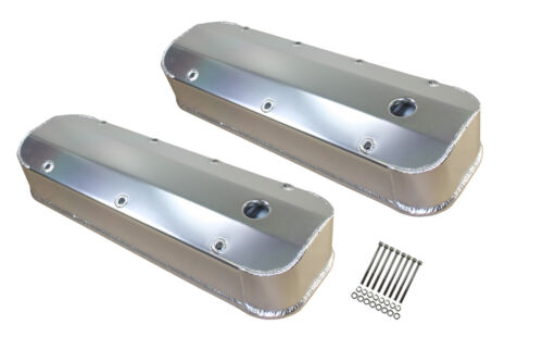 1965-95 CHEVY BIG BLOCK 396 427 454 502 TALL ALUMINUM VALVE COVERS  Fabricated