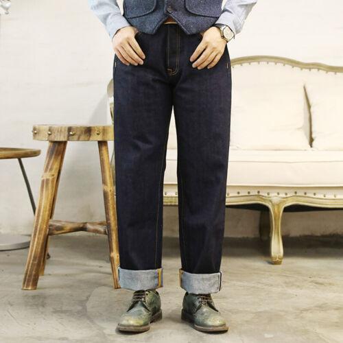 Men's Vintage Workwear Inspired Clothing   Red Tornado Japan Imported 12oz Selvedge Denim Jeans For Men Loose Straight Fit $82.99 AT vintagedancer.com